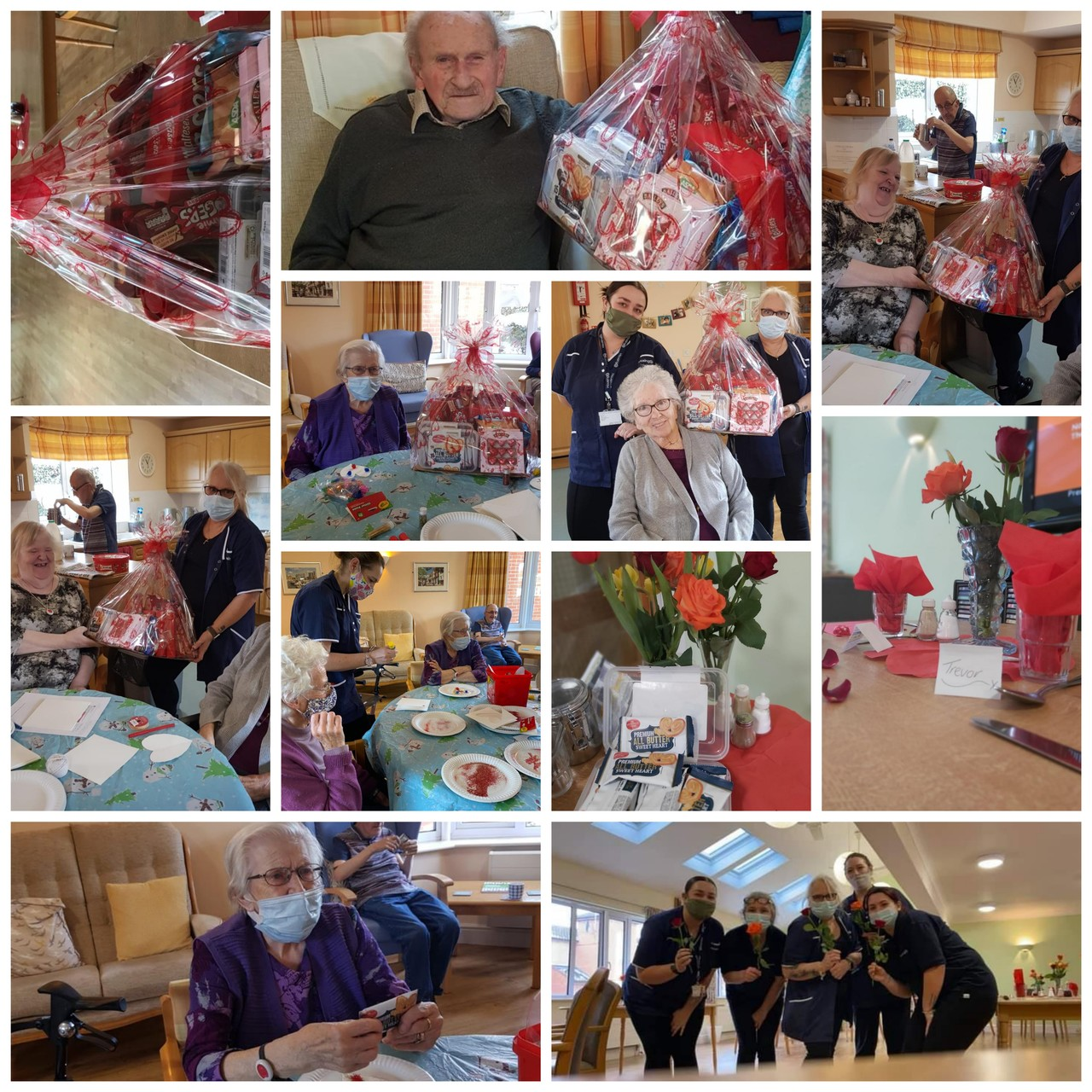 Rresidents at paddy gere house enjoying there valentines hamper. All looking happy and well. | Asda Ipswich
