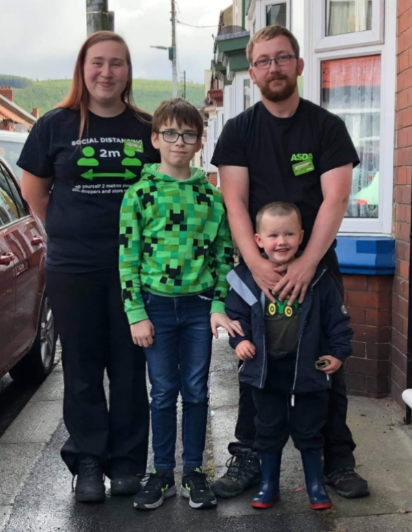 Christine and Rob from Asda Middlesbrough have been reunited with their family