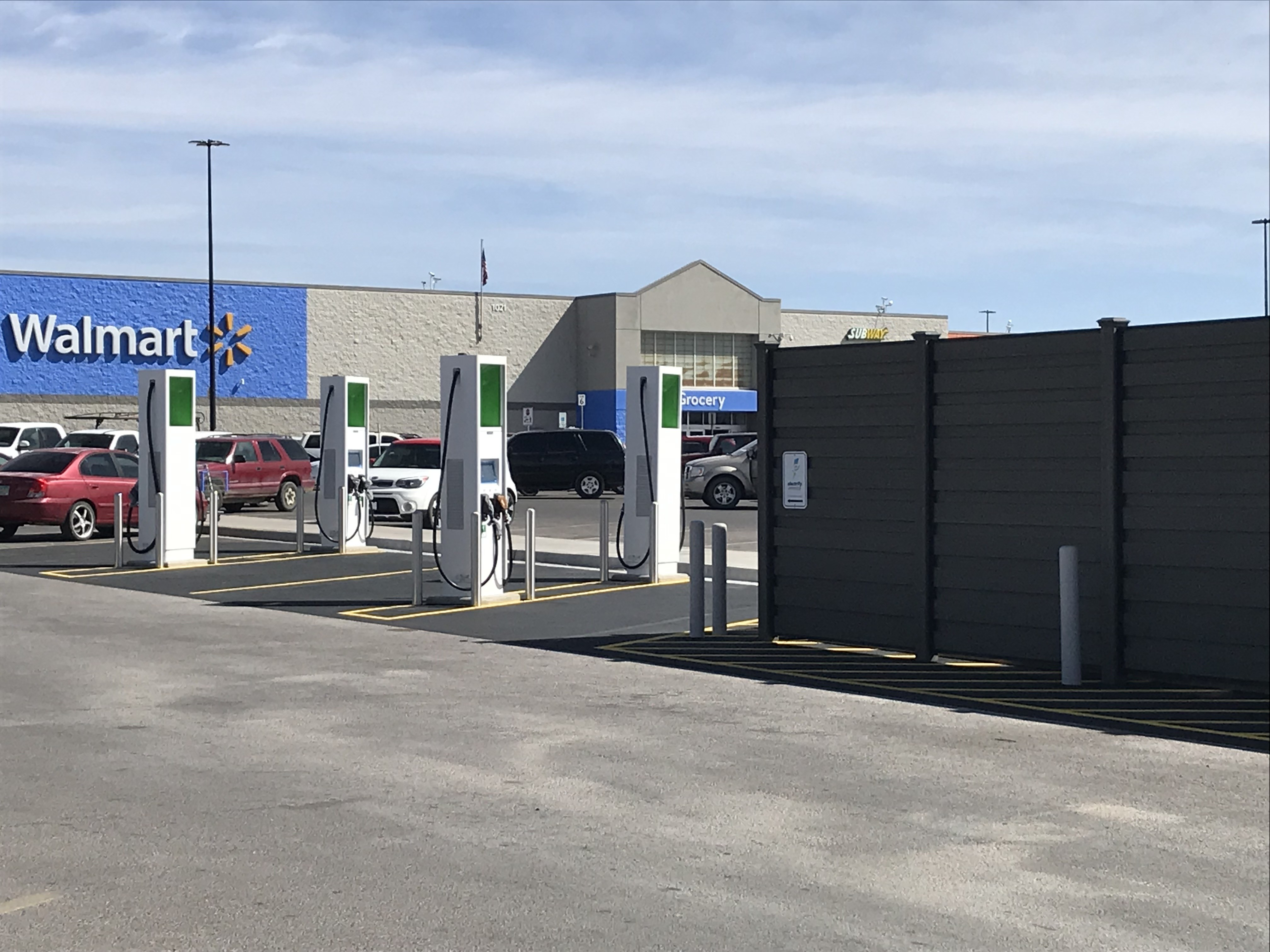 EV Charging Station at a Walmart Store