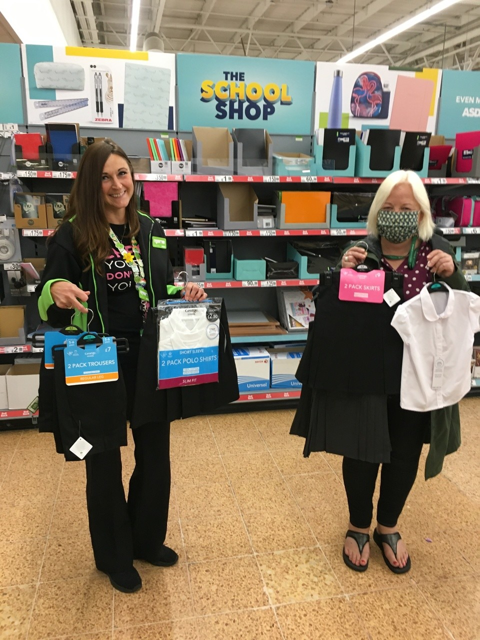 Store donation of school wear to help support Voices Domestic Abuse charity  | Asda Longwell Green
