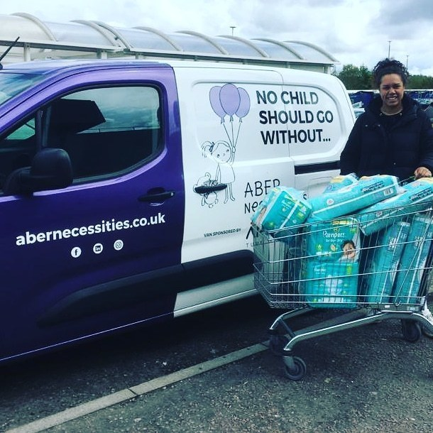 Abernecessities sent Talia to collect our donation of nappies after they sent out an Urgent Appeal. | Asda Dyce