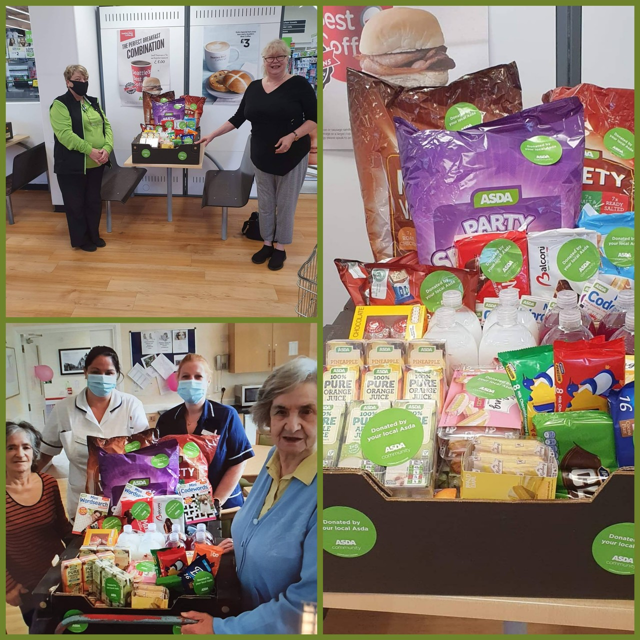 Donation to Spynie care home | Asda Elgin