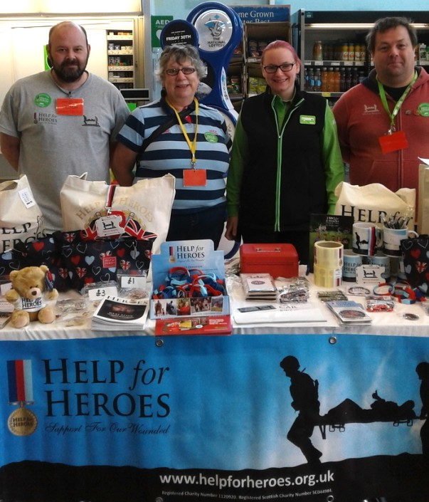 Help for Heroes at Asda Bishop Auckland