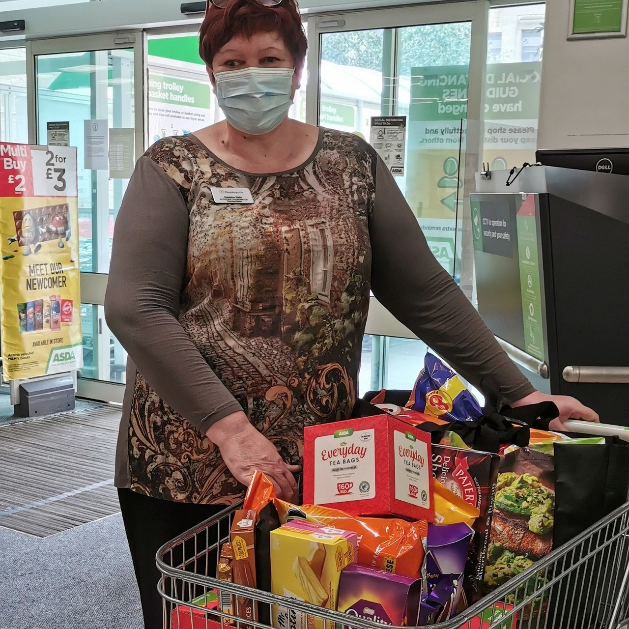 Donation to Thorntree Mews Care Home   Asda Falkirk