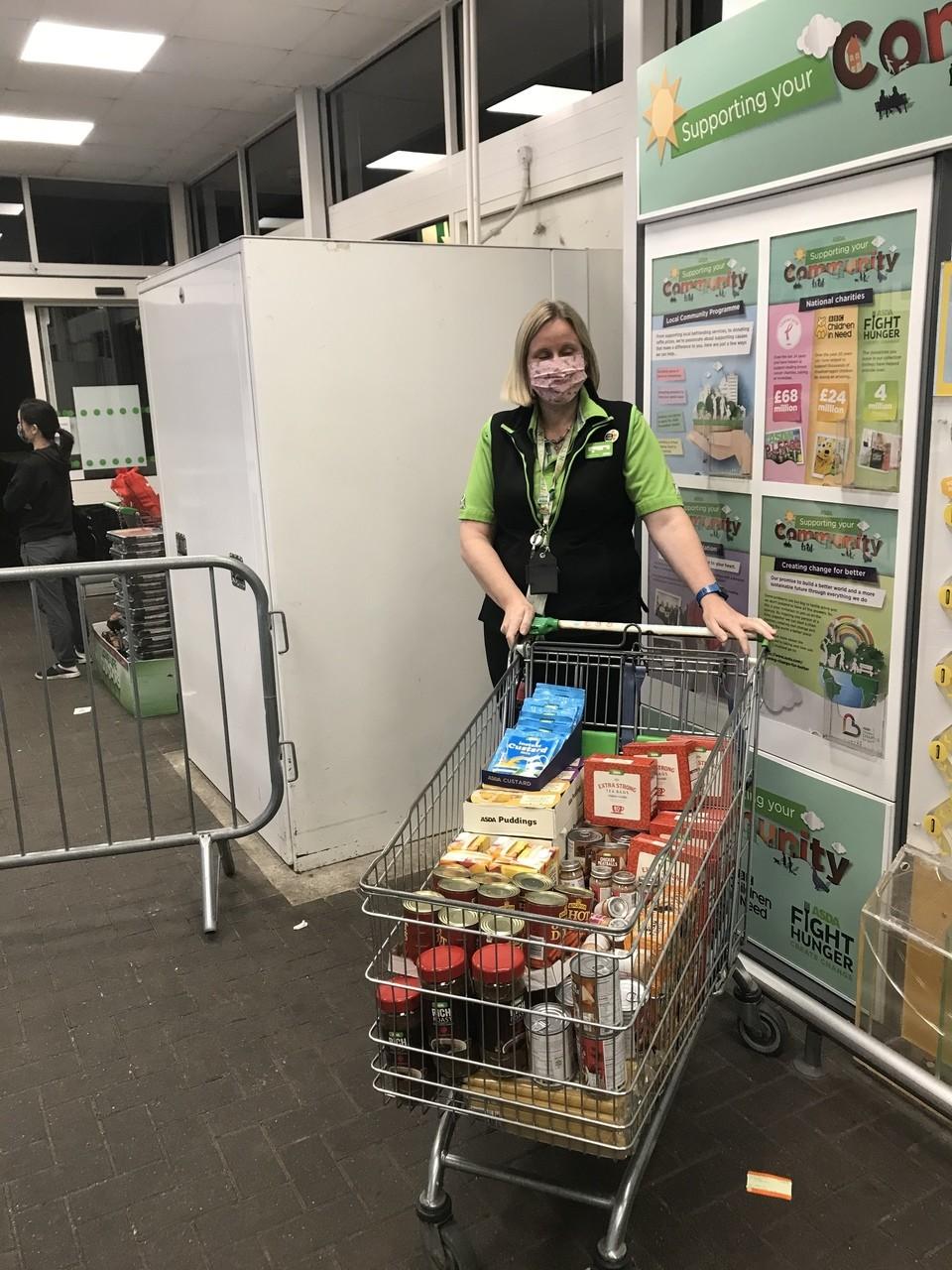 Gillingham Foodbank hampers and hygiene products donation | Asda Gillingham
