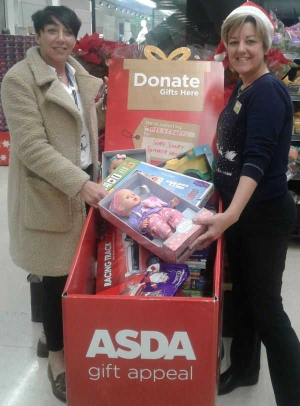 Gift appeal at Asda Sutton in Ashfield
