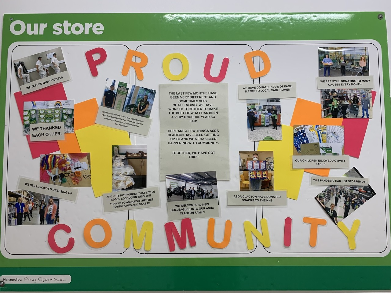Community board  | Asda Clacton-on-Sea