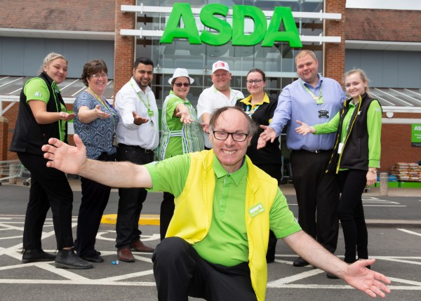 Paul Humphreys from Asda Abbey Park is a big hit with customers on Facebook