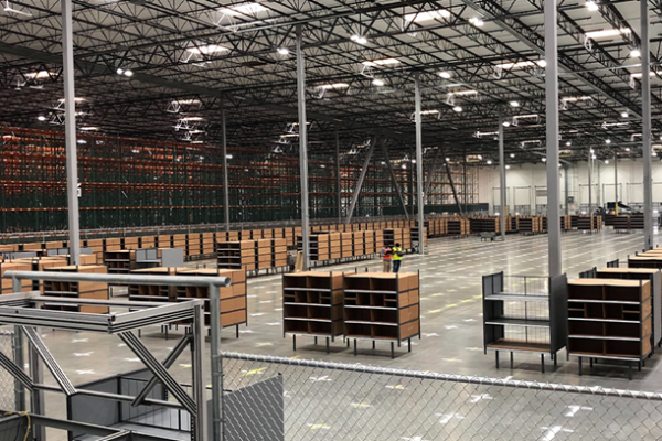 A first glimpse inside of Sam's Club's newest fulfillment center and innovation lab in Perris, California.