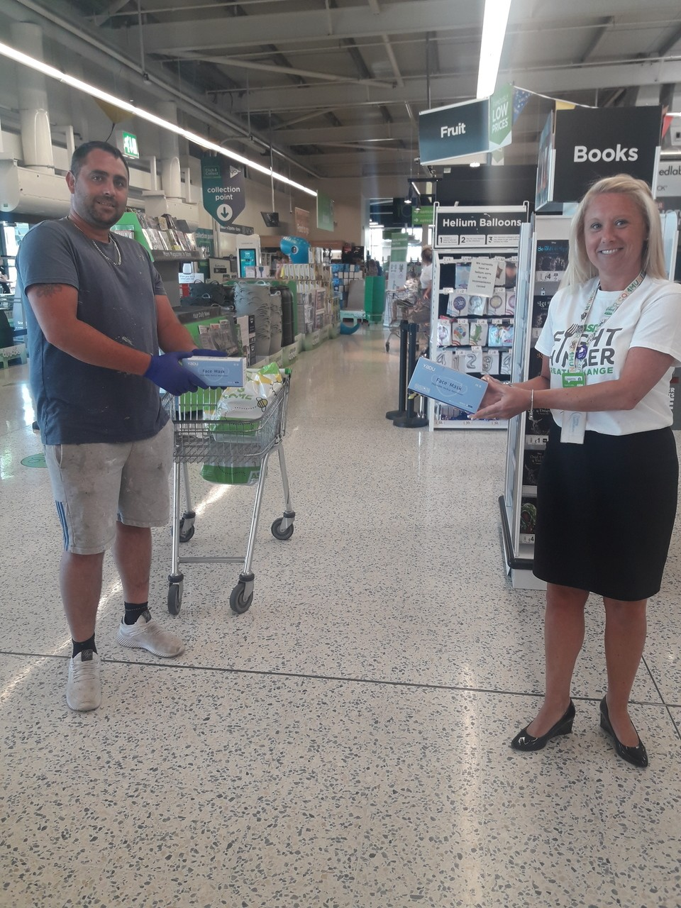 Face mask donation  | Asda Barry