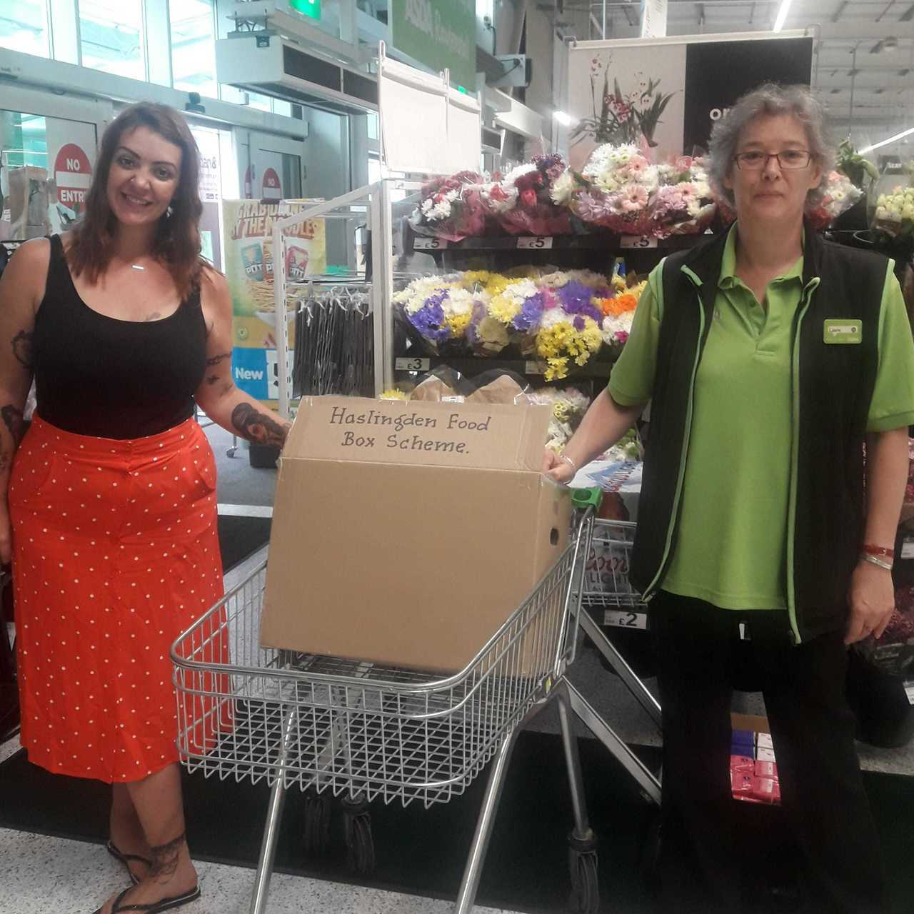 Supporting food box initiative | Asda Rawtenstall