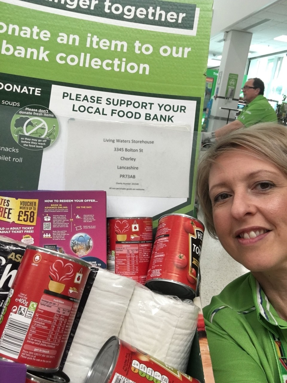 Food bank donations  | Asda Clayton Green