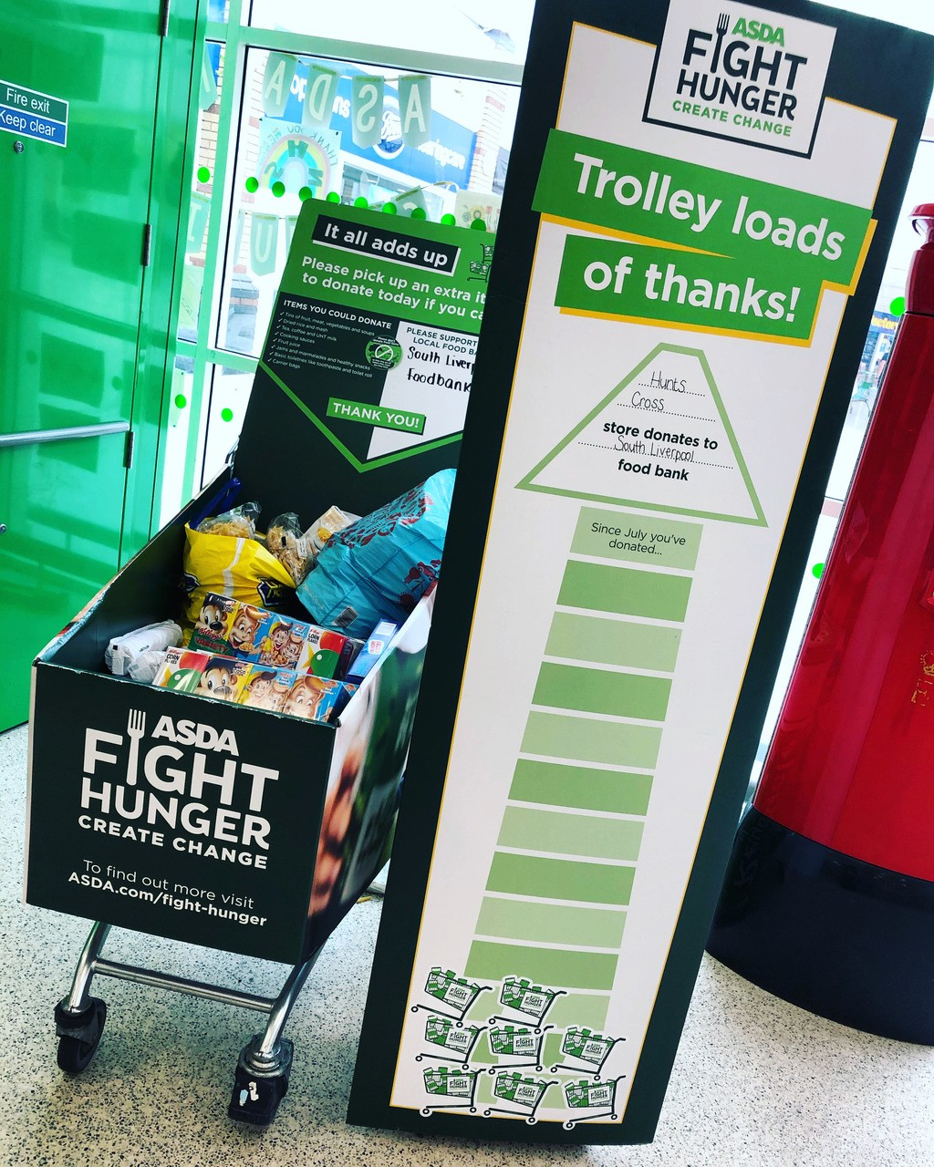Donations to South Liverpool Foodbank | Asda Hunts Cross