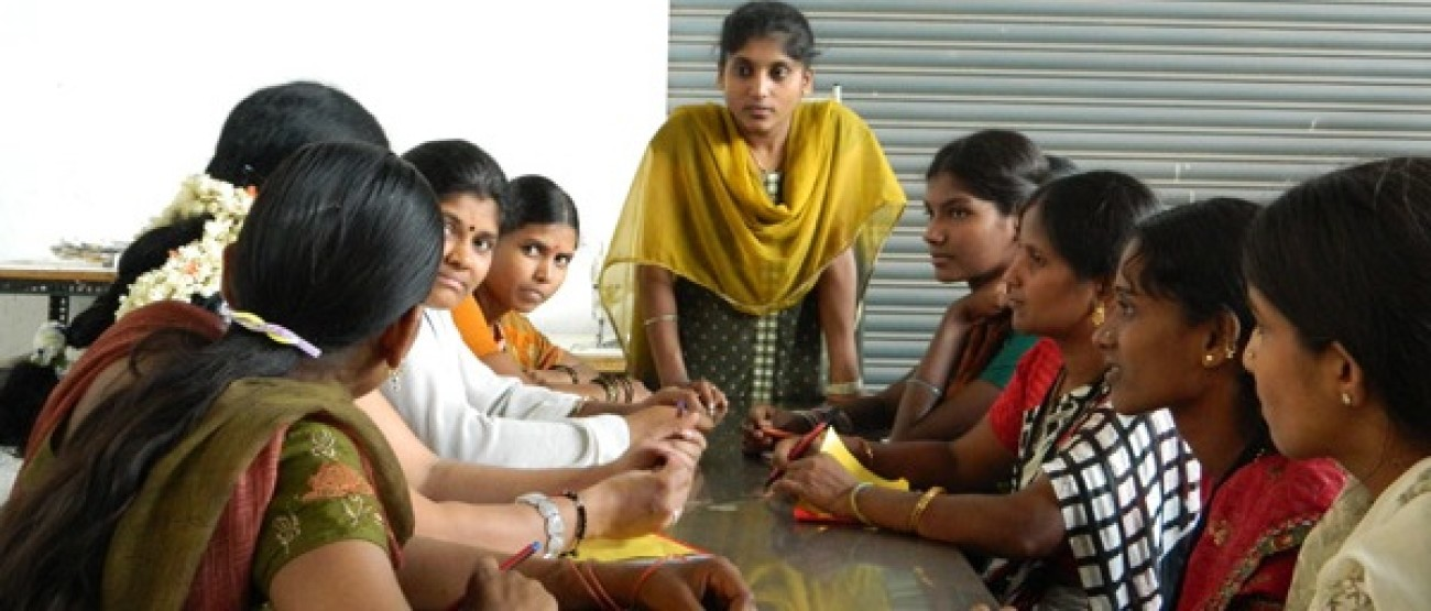 Women in Factories Training Program session at MAF Clothing factory in Bangalore, India