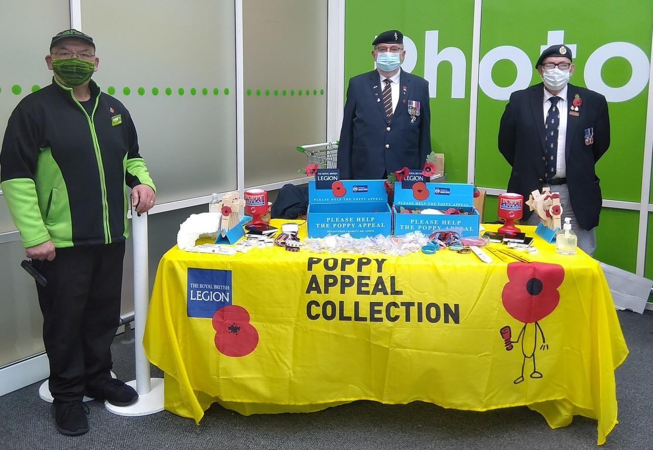 Stafford Poppy Appeal support | Asda Stafford