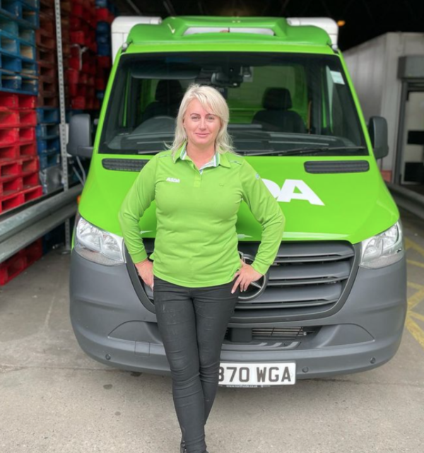 Julie Briggs from Asda Middlesbrough tackled a flat fire