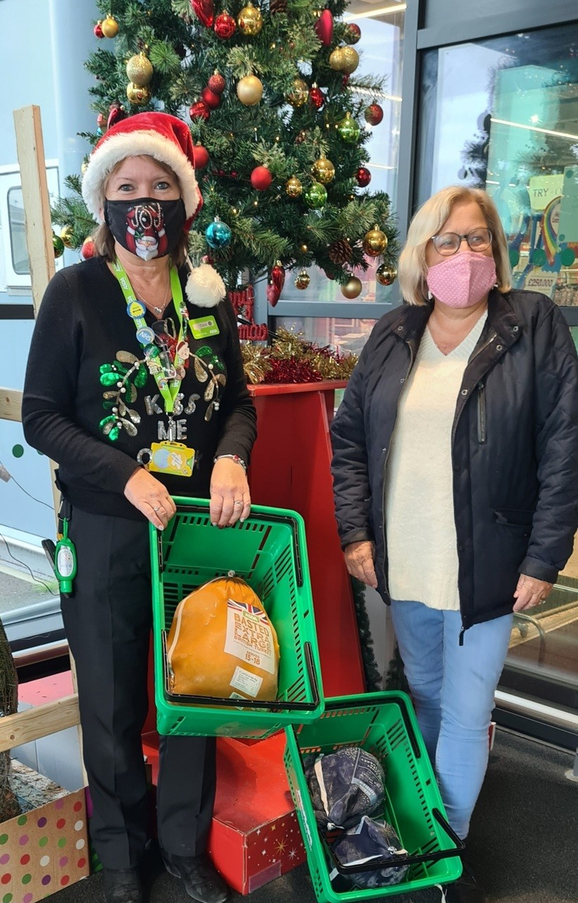 Turkey donation for Aspire Ryde | Asda Newport Isle of Wight