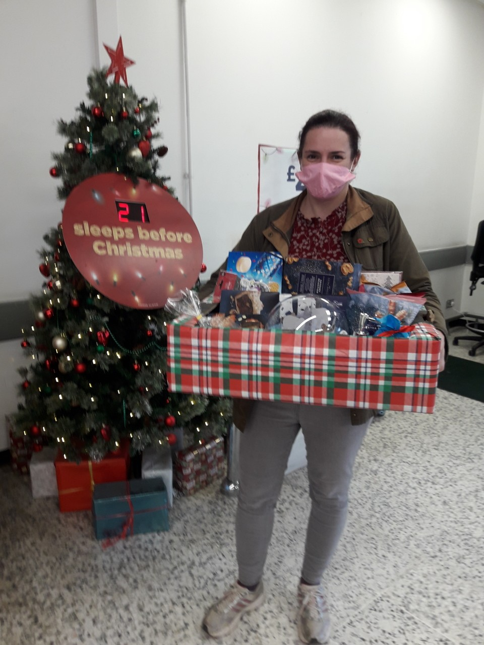 Christmas Hamper donation for Friends of Hampreston First School  | Asda Bournemouth