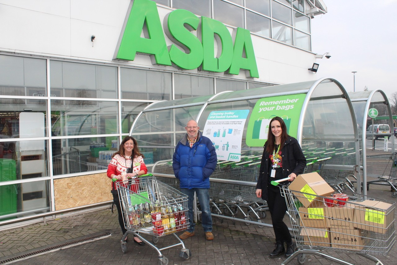 Bolton and Burnden Park donation to Christmas Dinner On Jesus project.   | Asda Bolton