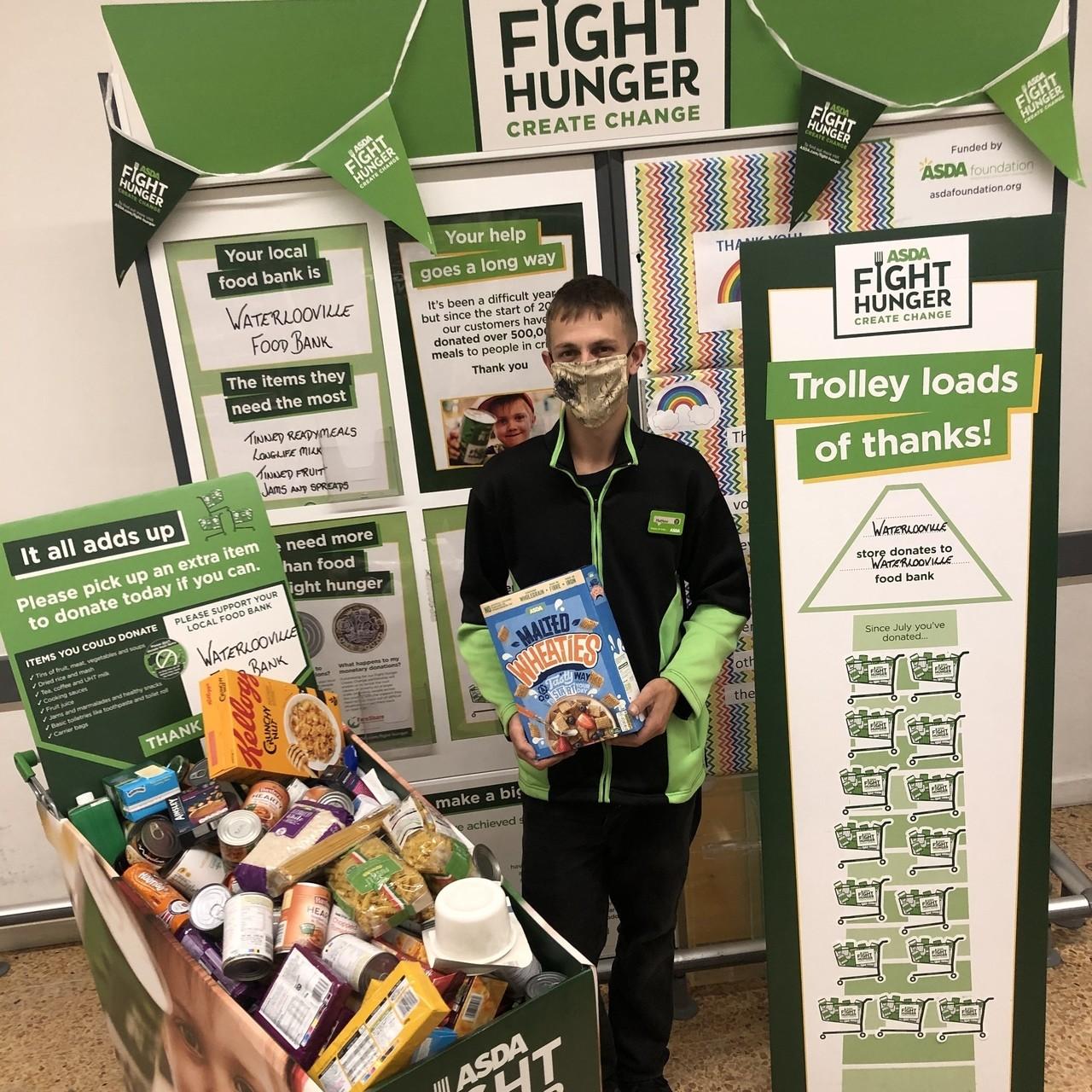 Foodbank donation | Asda Waterlooville
