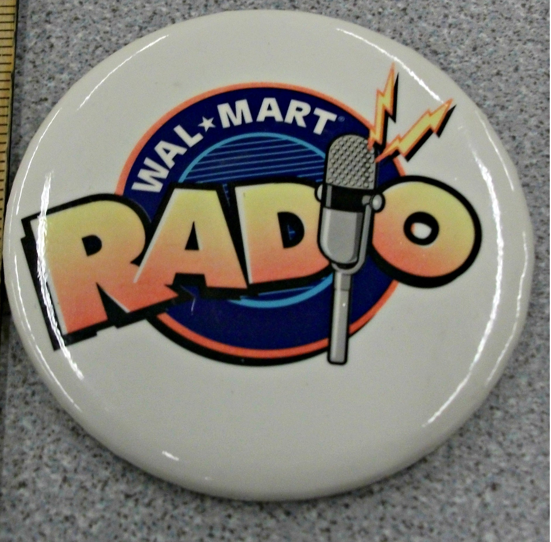 A white button features the original Walmart Radio logo