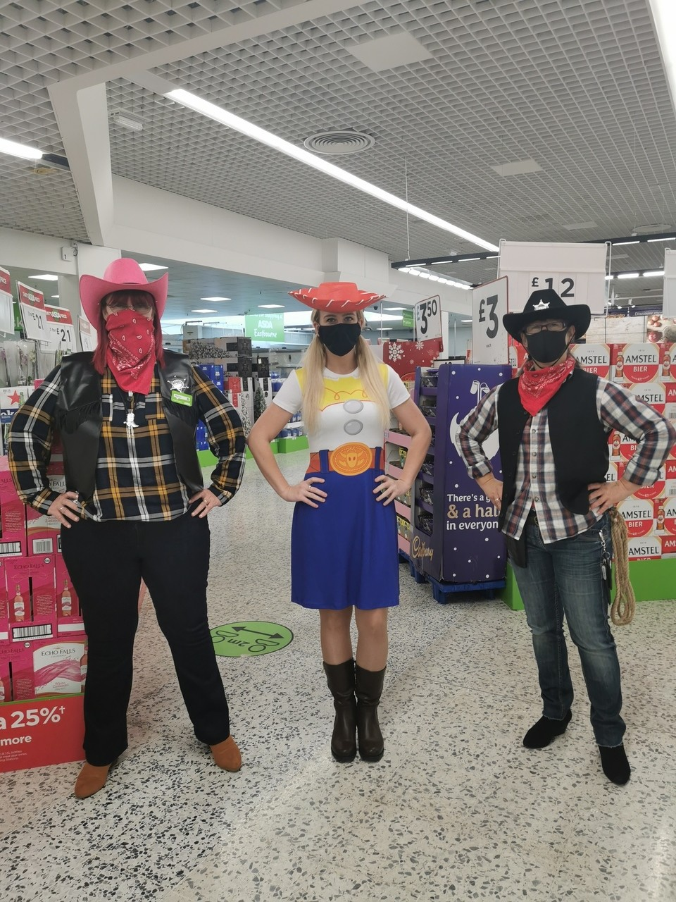 Cowboys roped in to support Tickled Pink | Asda Eastbourne