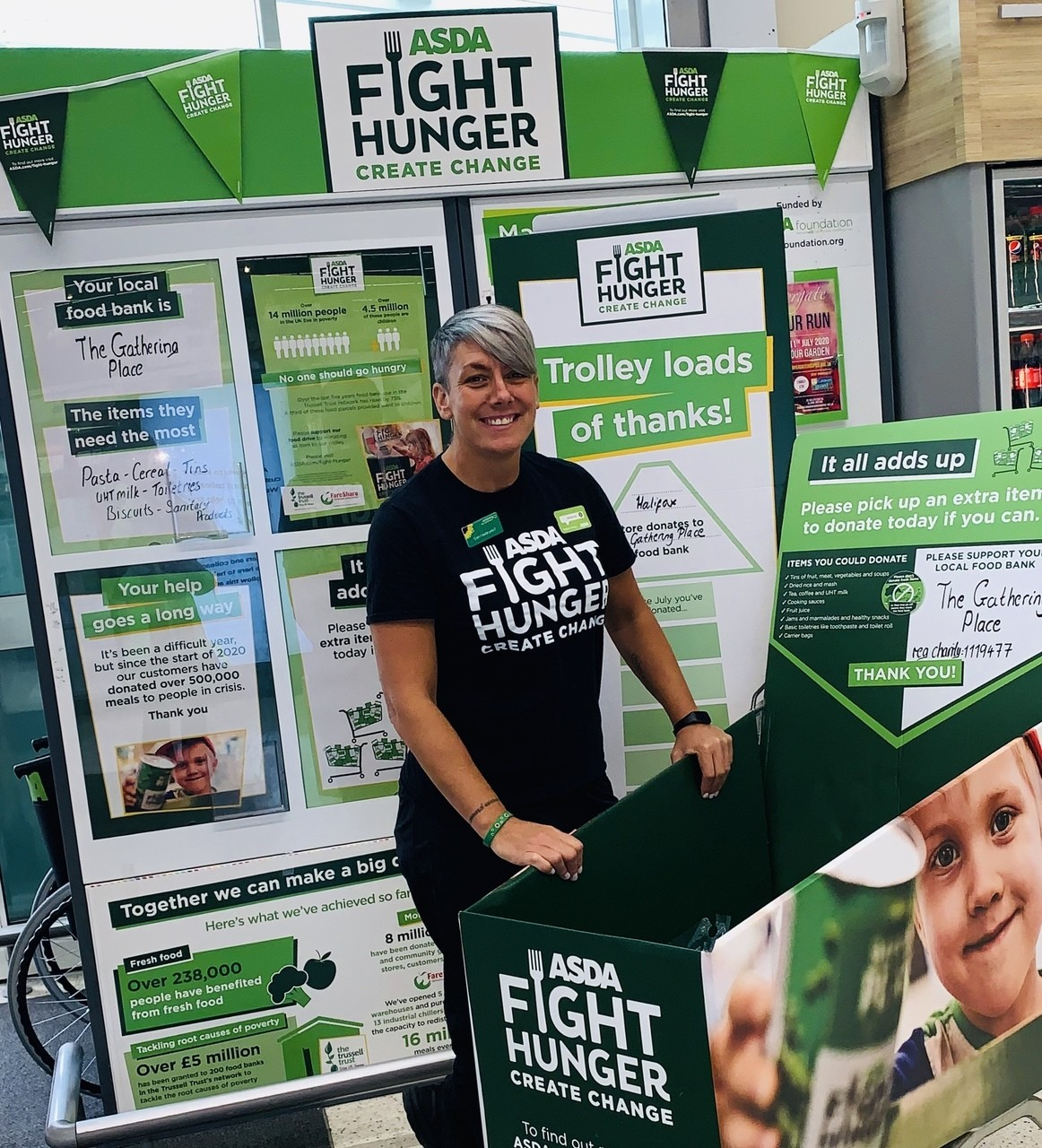 Supporting Fight Hunger Create Change | Asda Halifax