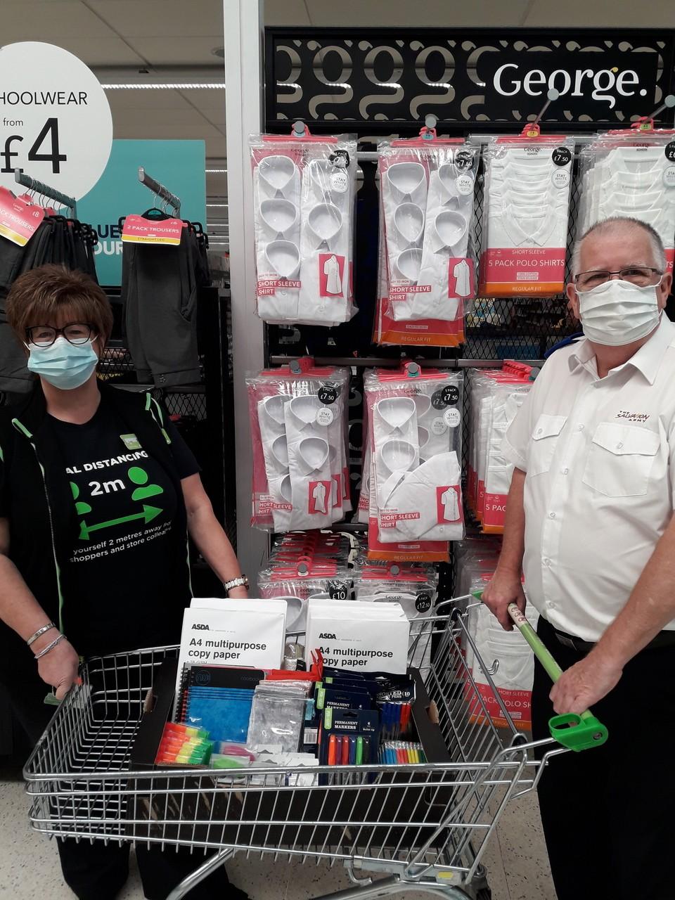 Salvation Army donation | Asda Gateshead