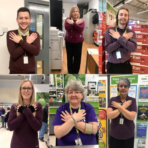 Supporting Purple Tuesday at Asda Frome