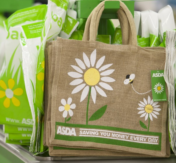 Asda reusable fabric shopping bags