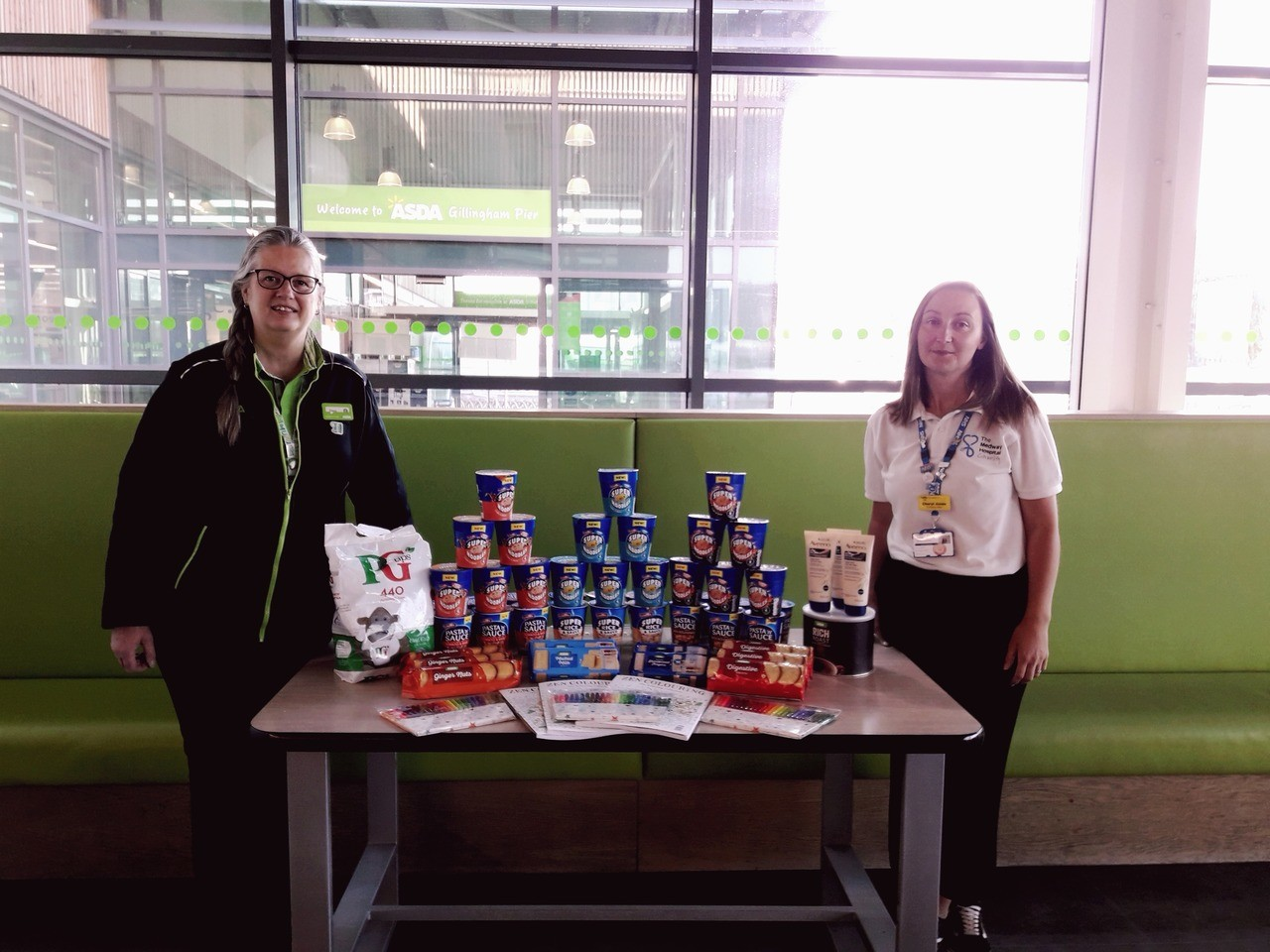 Donation to Medway Hospital Charity | Asda Gillingham Pier