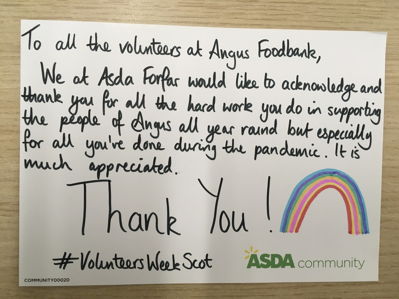 Volunteers' Week   Asda Forfar