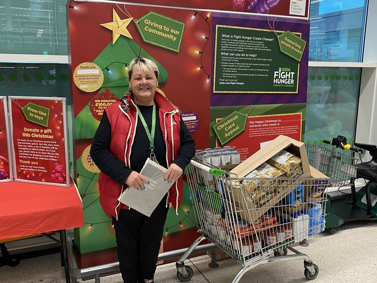 Ty Fforest Resource Hub donation | Asda Gorseinon