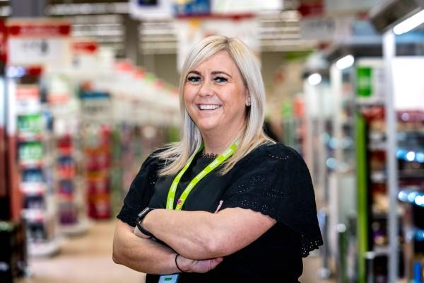 Asda Blantyre general store manager Gillian Dillon