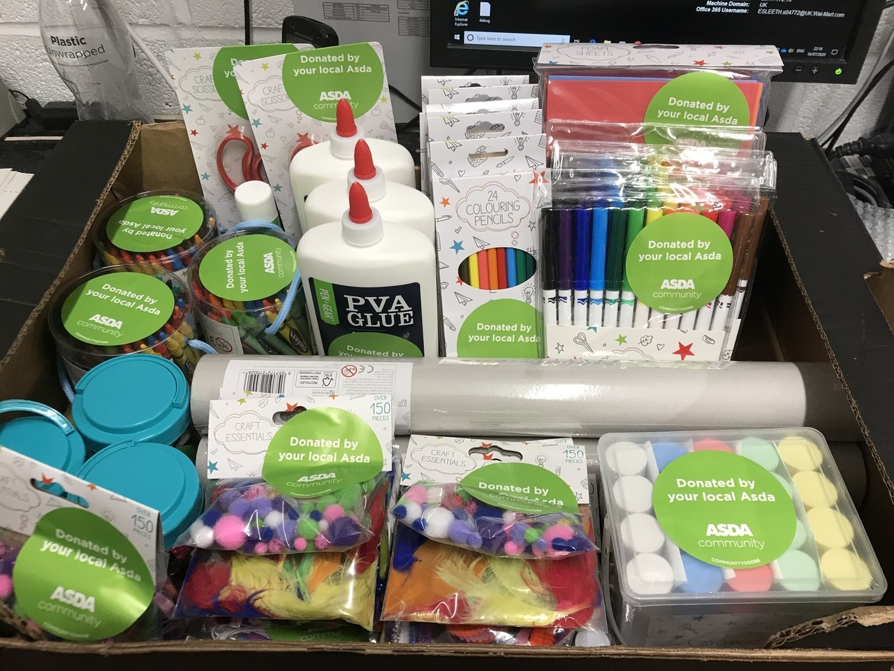 Gillingham School Craft Donation  | Asda Gillingham