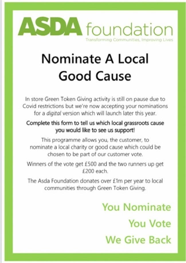 Digital Green Token Giving | Asda Glenrothes