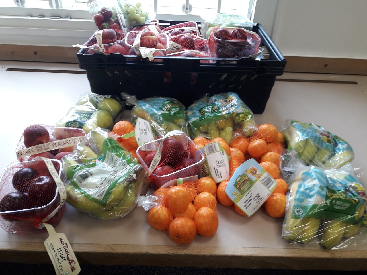 Fruit donation to Friends of Di's Kitchen | Asda Wolverhampton