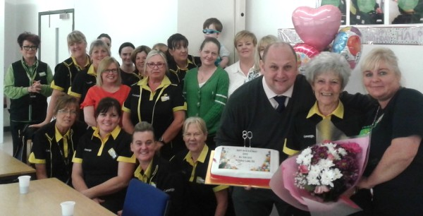 Asda Aintree colleague Joyce celebrates her 80th birthday