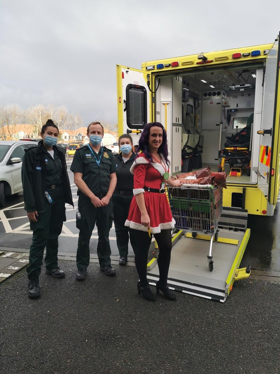 Festive thank you to ambulance crew | Asda Eastbourne