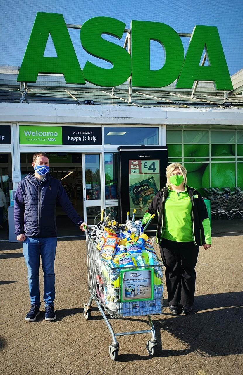 EACHa Homeless Charity donation | Asda Kilmarnock