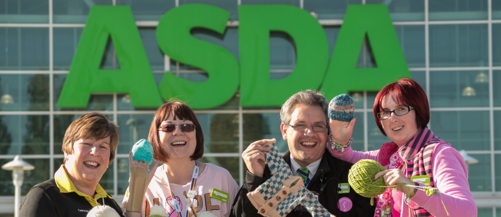 Asda Nottingham West Bridgford colleagues knitting for City Hospital