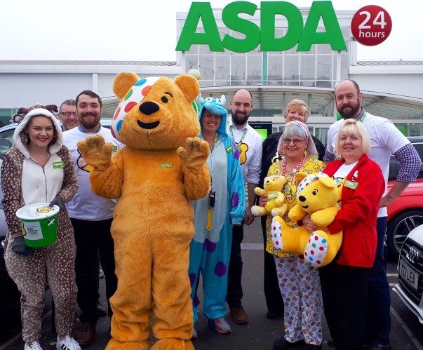 BBC Children in Need at Asda Boston