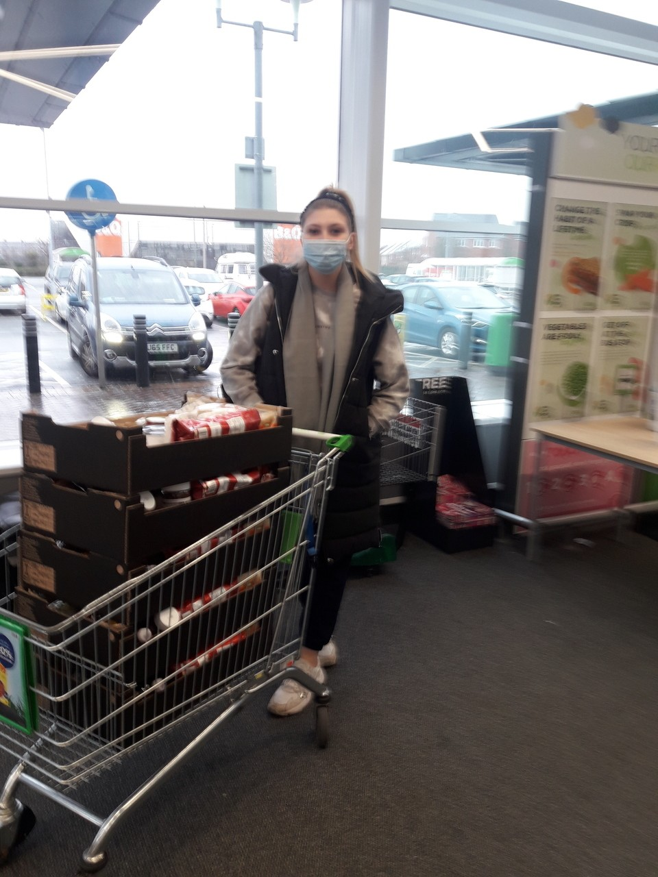 Fight Hunger Create Change donation | Asda Leigh