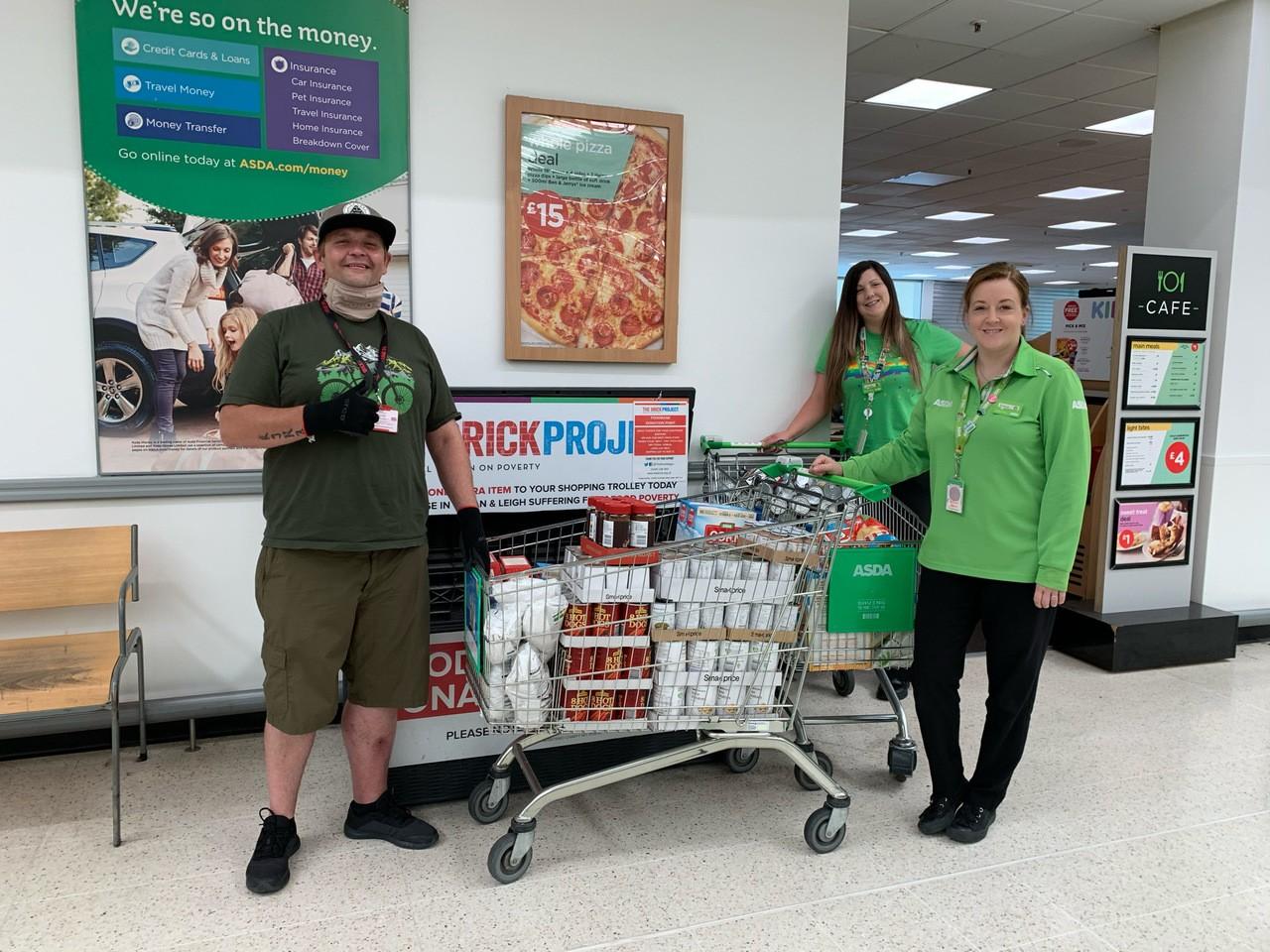 Donation to The Brick food bank | Asda Wigan