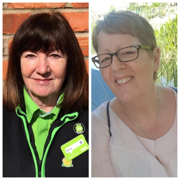 Linda Bolas and Denise McGee from Asda Winsford