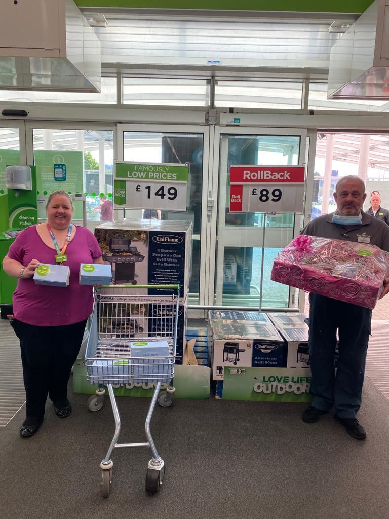 Mask donation to care homes | Asda Dewsbury