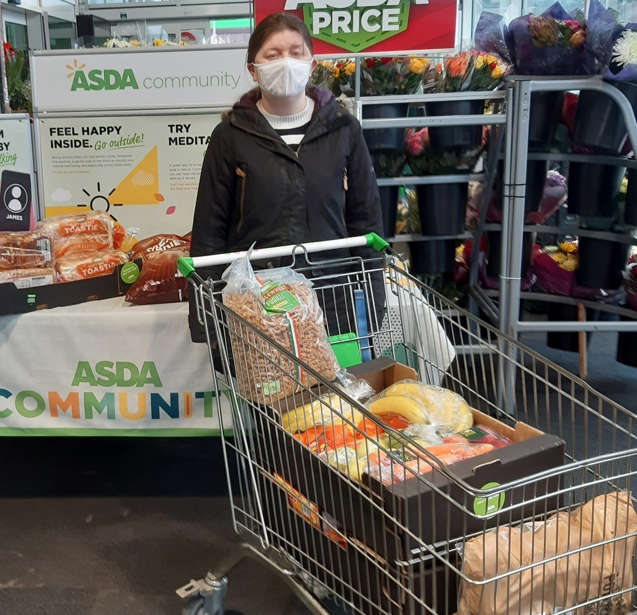 Food donation for Ipswich YMCA | Asda Ipswich Stoke Park
