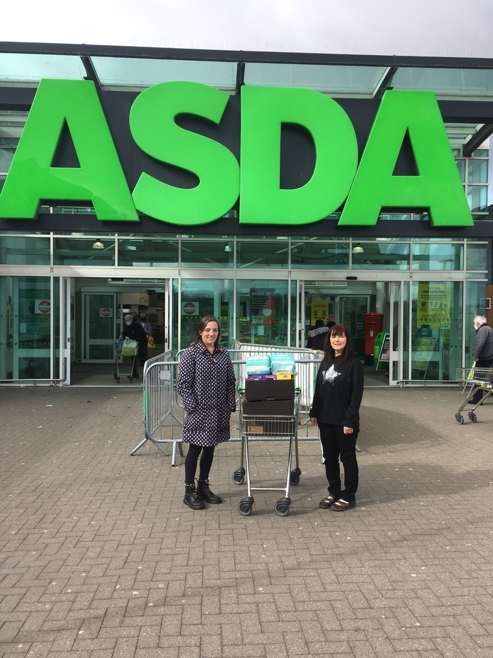 Susan and Abbie from Dyce Parish Church Foodbank were delighted with our donation this month which included Easter Eggs.   Asda Dyce