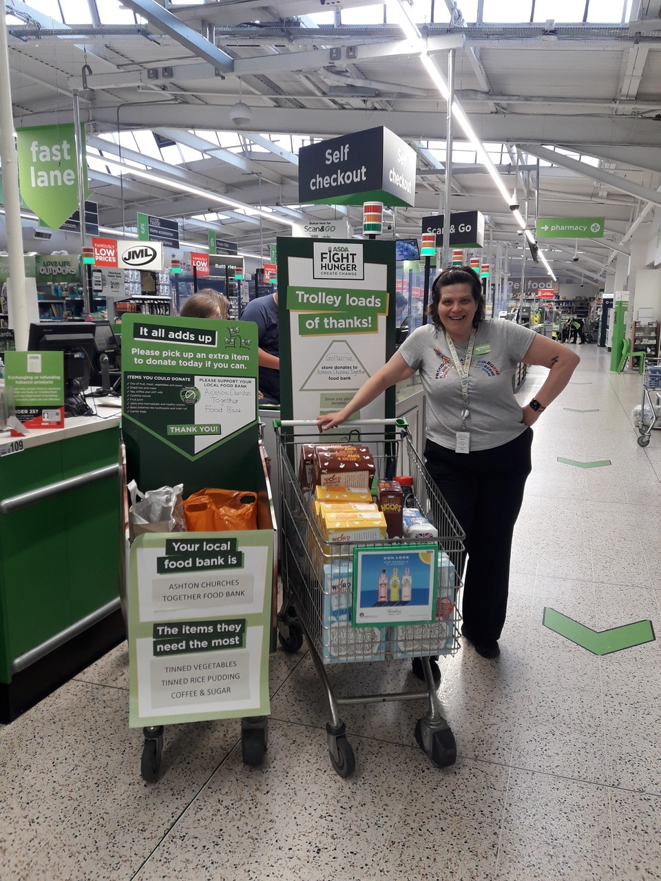 Donation to Ashton Churches Together Food Bank | Asda Golborne