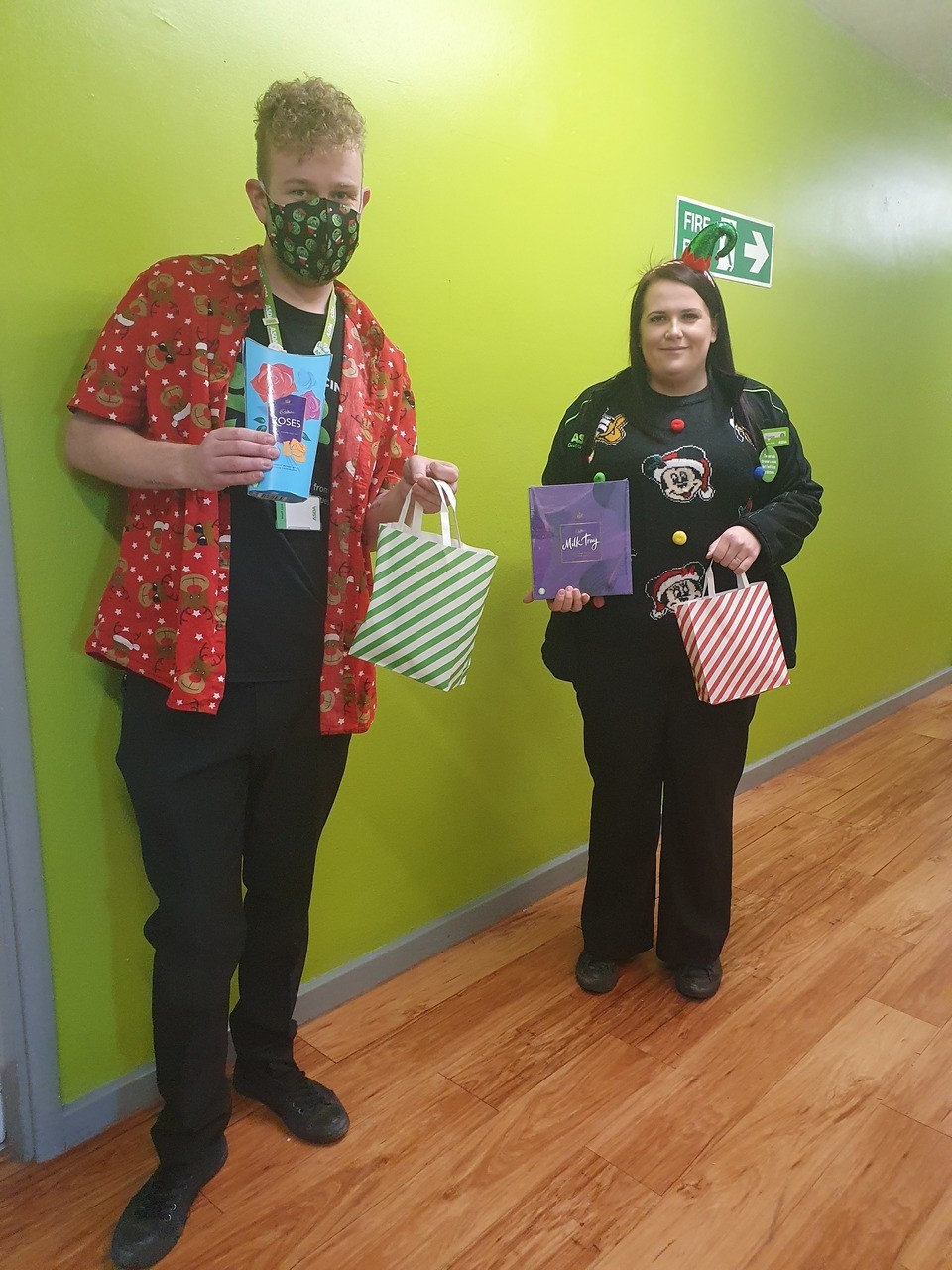 Christmas gift and bag of snacks for christmas celebration lunch | Asda Brierley Hill